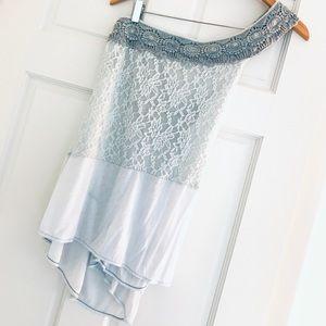 Free People New Romantics One Strap crochet top